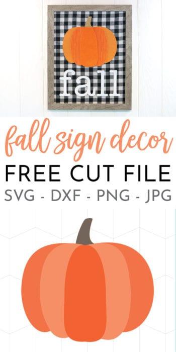 DIY Indoor Pumpkin Fall Decor created with mixed media and the cricut!