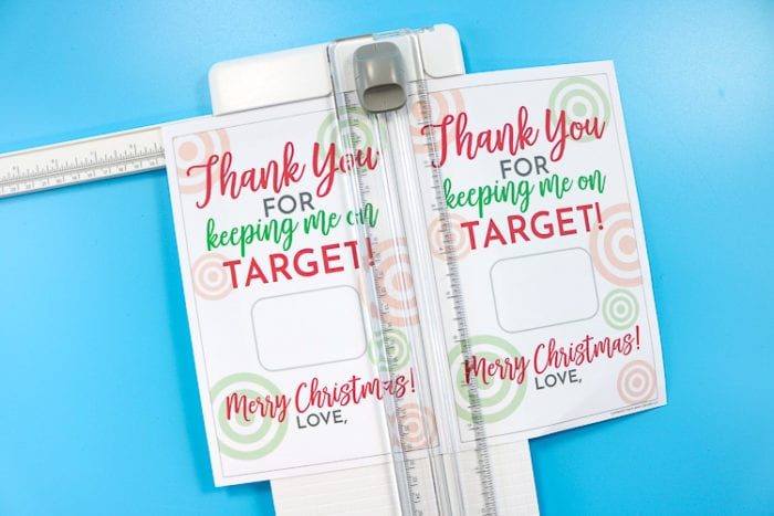 Cut Printable with paper cutter to size