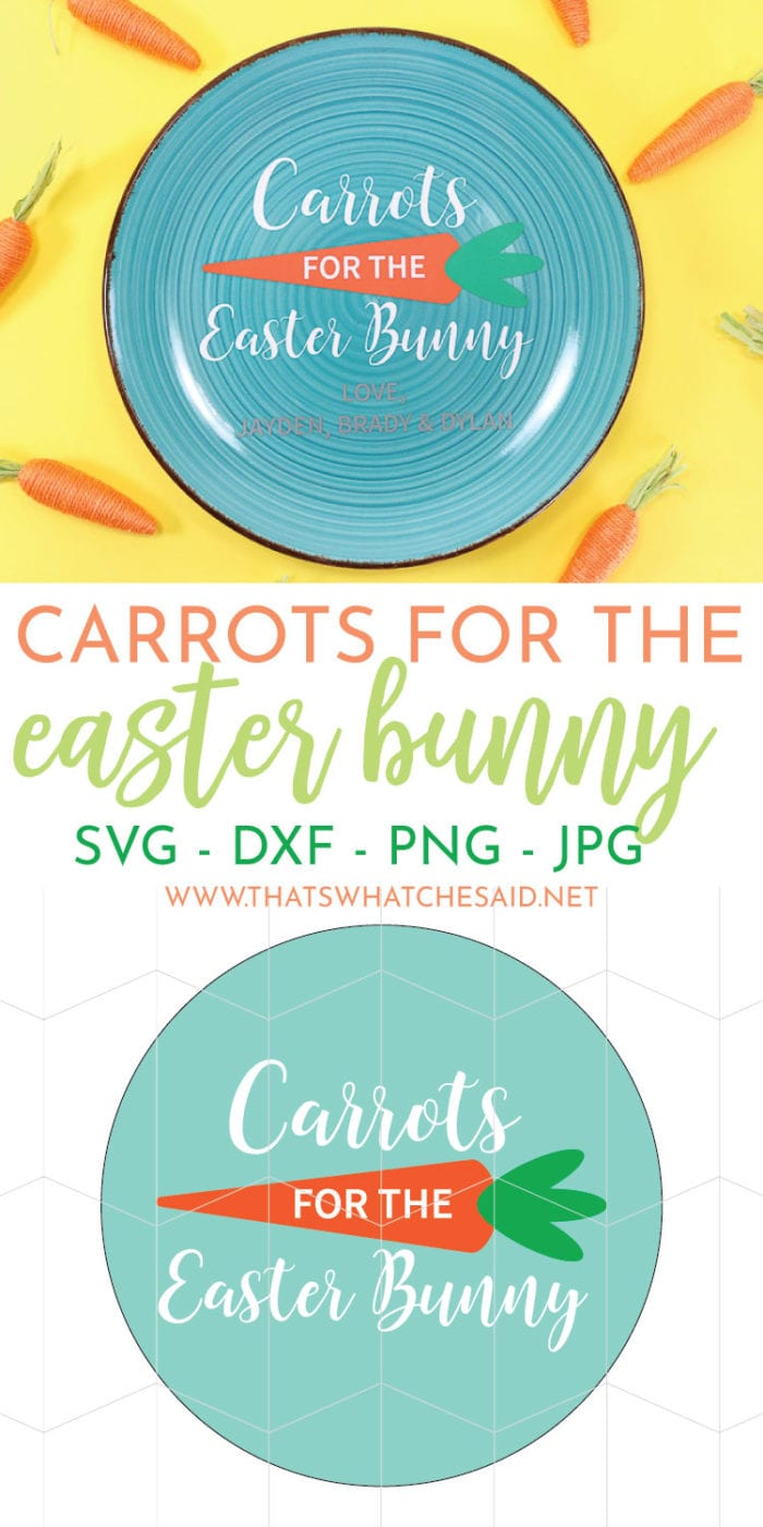 Create an adorable Carrots for the Easter Bunny plate that can be personalized with your child/ren's names!  Leave some crunchy carrots out for the hippity hoppity friend!