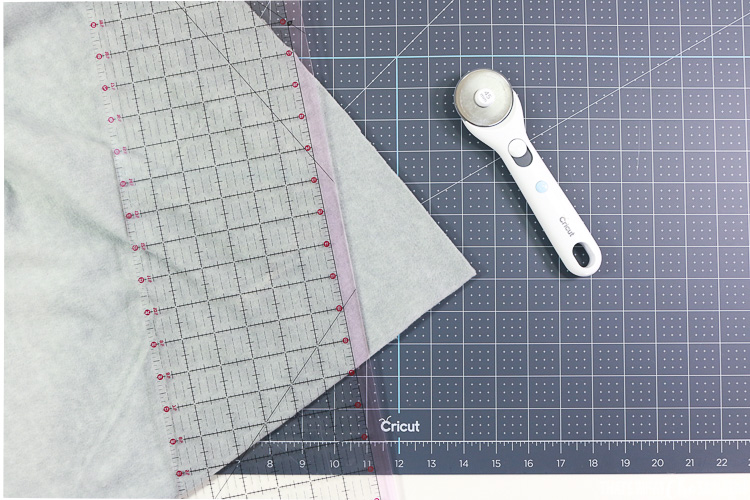 Suppies to cut and square your fleece scarf.