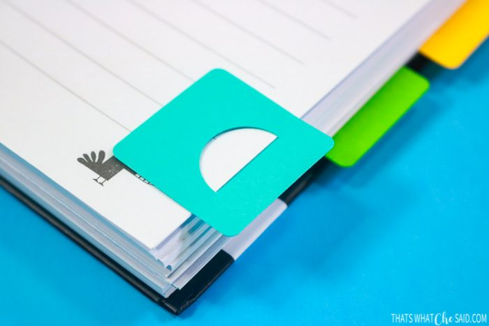 DIY Planner Tab on a notebook page