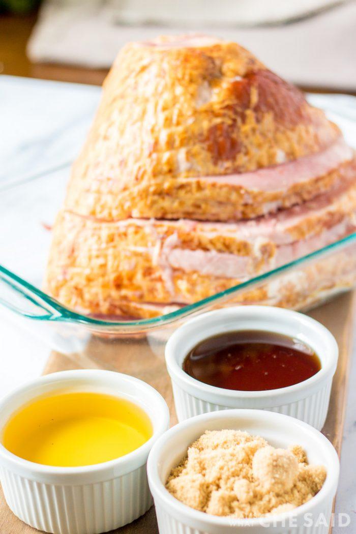 Maple Brown Sugar Spiral Ham Ingredients