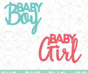 Baby Shower Cake Toppers - Baby Boy/Baby Girl