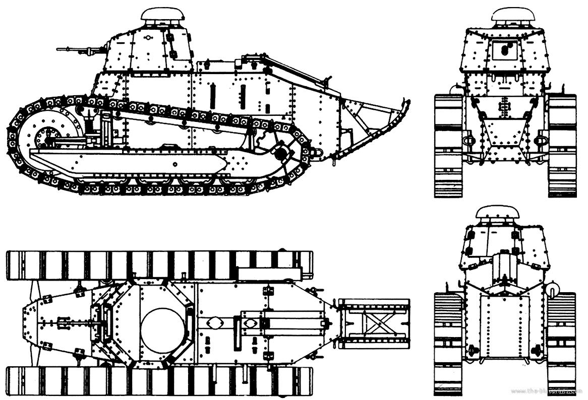 Renault Ft 17 Blueprints