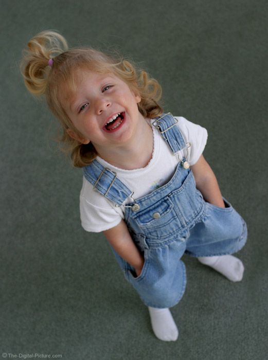 Girl In Overalls Picture