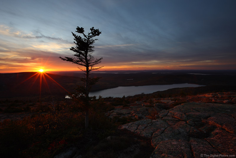 Sunset At Cadillac Mountain Acadia National Park