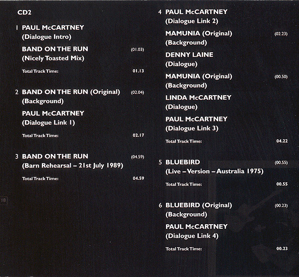 Band On The Run 25th Anniversary Official Album By