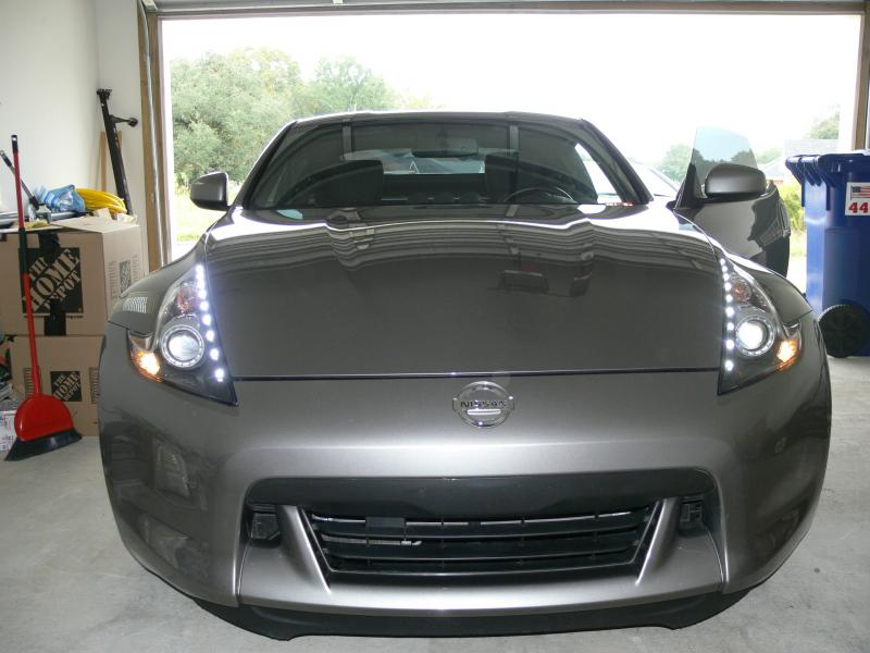 370z Blacked Out Headlights