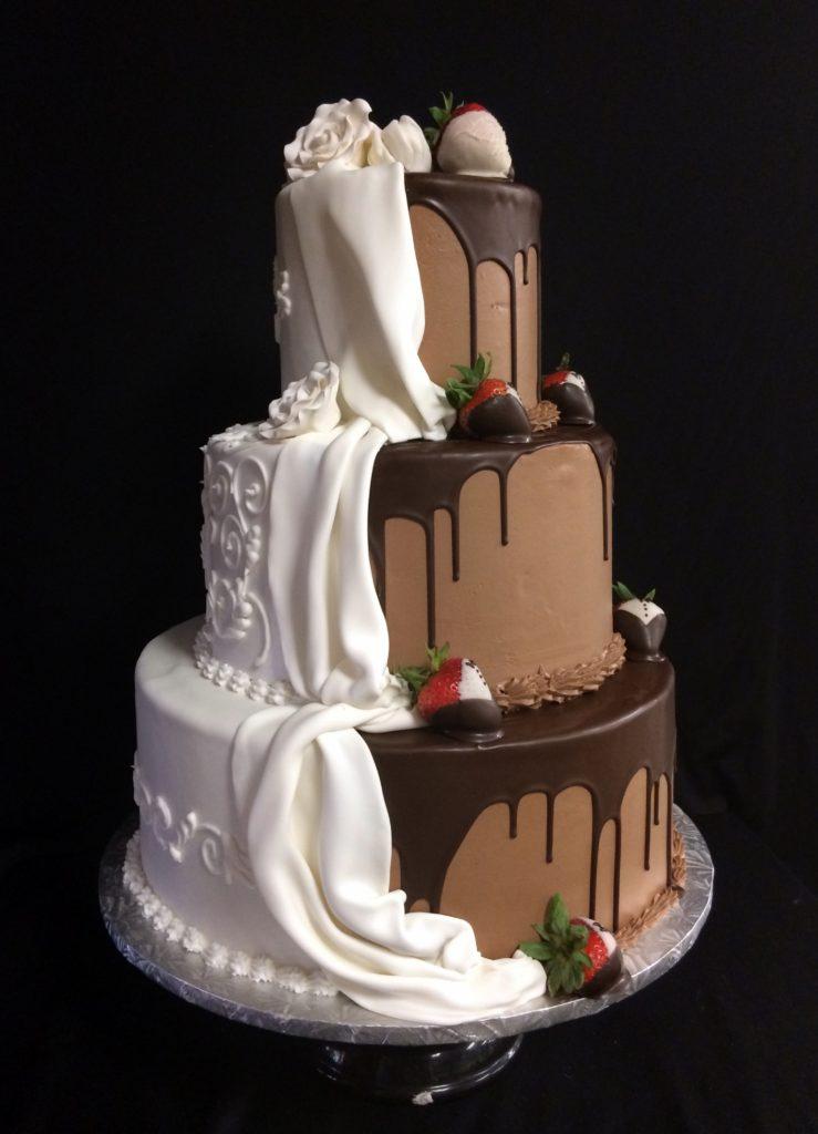 Wedding Cakes Half And Half 3 The Bake Works
