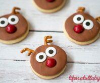 Reindeer Sugar Cookies for Christmas