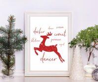 Reindeer Christmas Free Printable