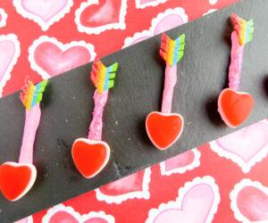 DIY cupid arrow candy