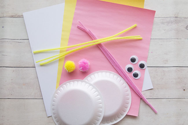 Supplies for Easter Bunny Craft