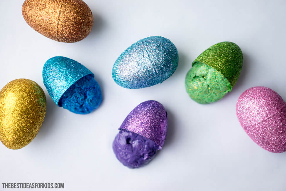 Easter Egg Slime with Easter Eggs