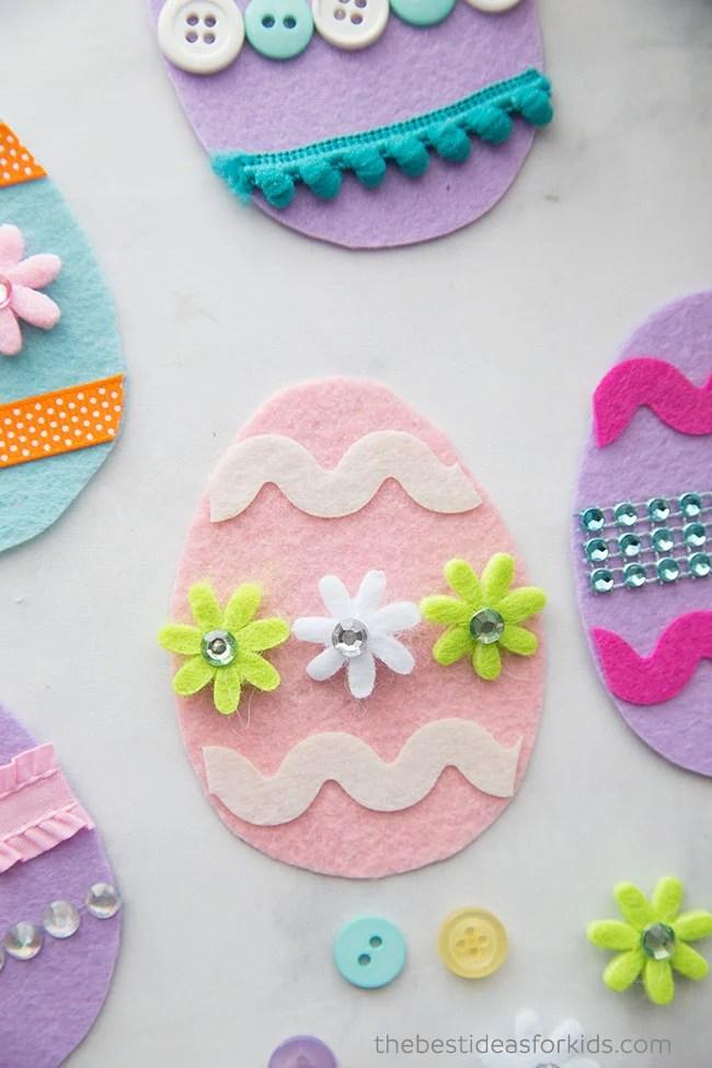 Felt Easter Eggs Craft