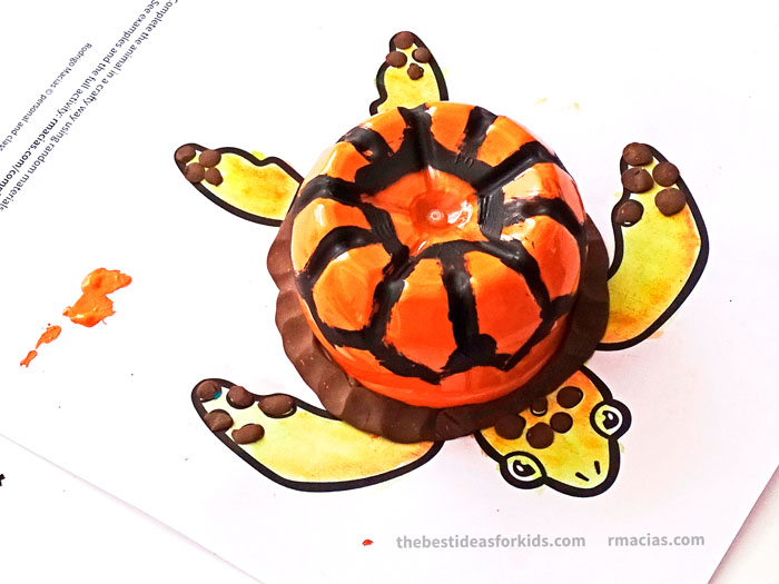 Turtle with Bottle Craft Idea