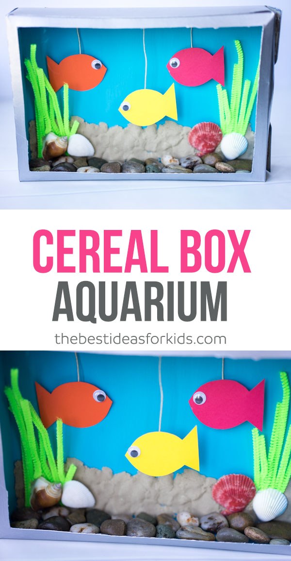 Cereal Box Aquarium Craft for Kids