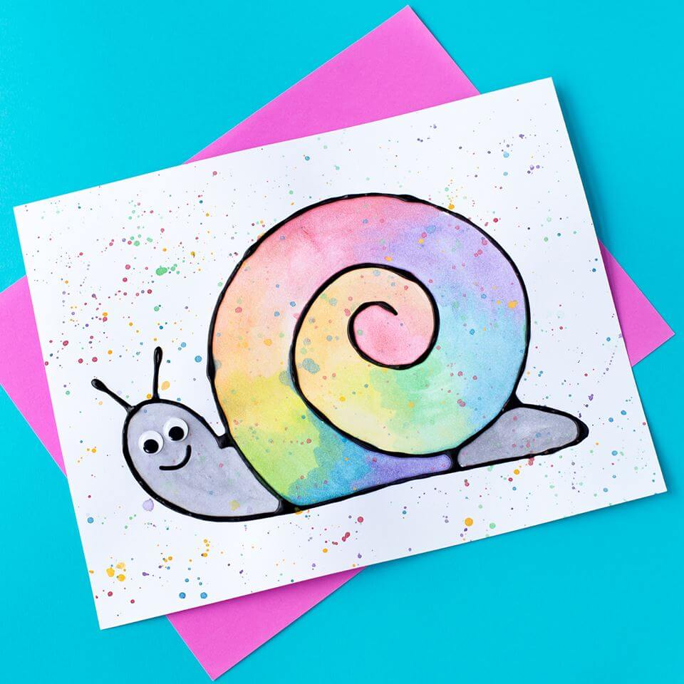 Snail Black Glue Craft