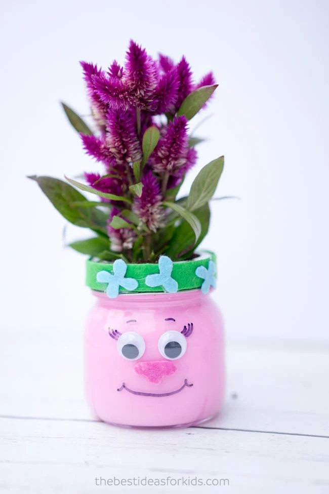 Trolls Mason Jar Kids Craft