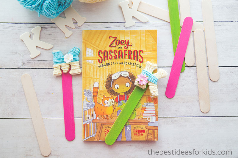 Yarn Wrapped Letter Bookmarks DIY
