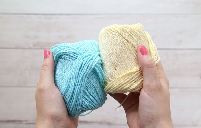 Yarn for Letter Bookmarks