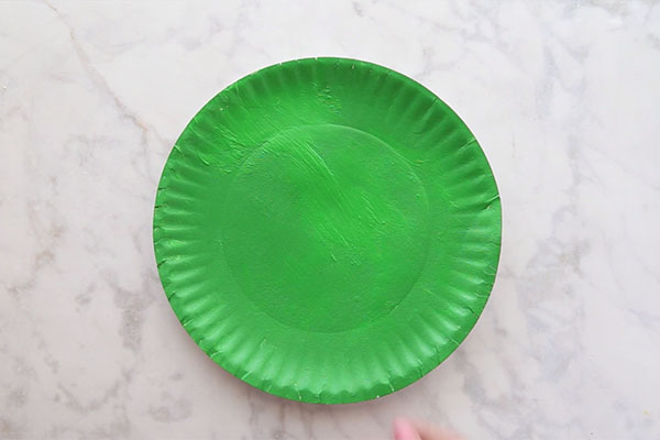 Paint Paper Plate Green