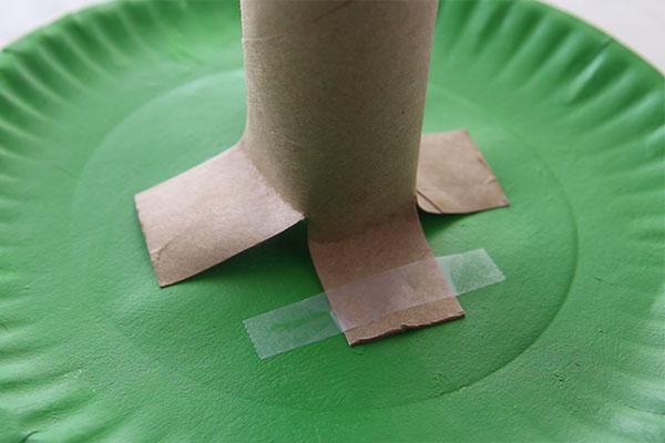 Tape Tube to make Handprint Tree
