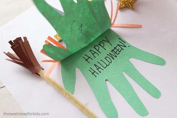 Witch Handprint Happy Halloween