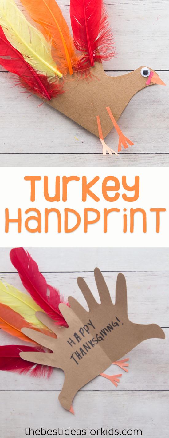 Turkey Handprint Card
