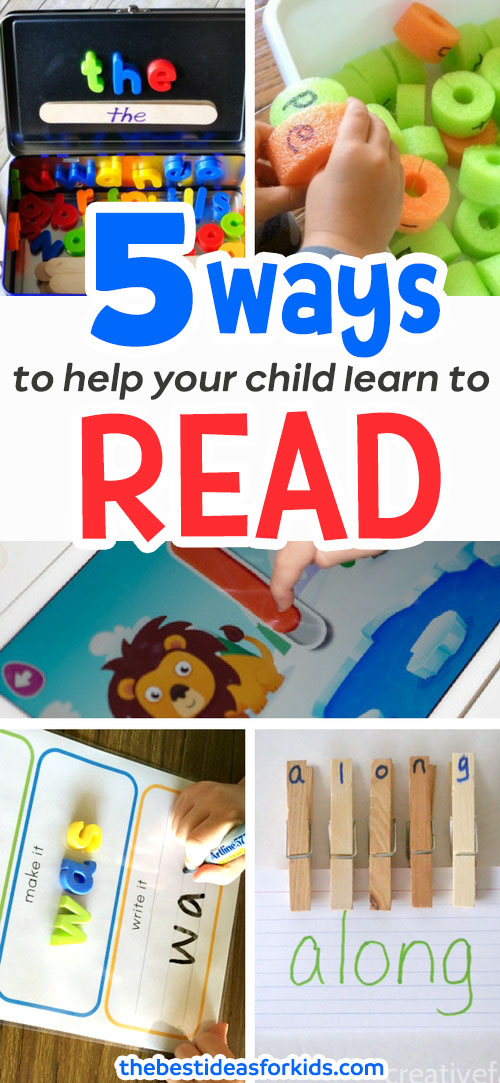5 ways to help your child learn to read
