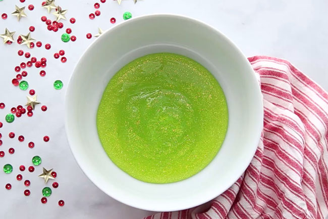 Green Glitter Glue for Christmas Slime