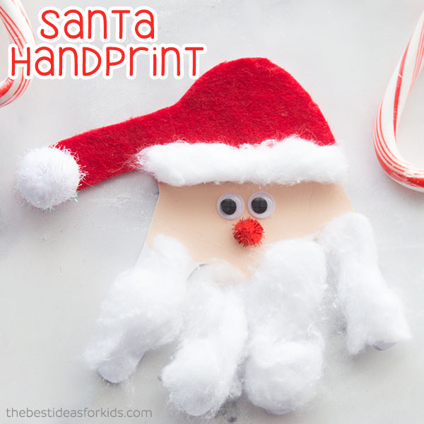 Santa Handprint Christmas Card