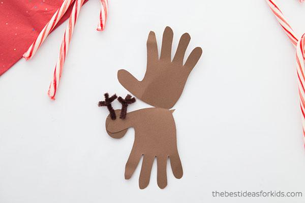 Inside Reindeer Handprint Card