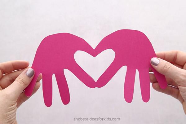 Handprint Card Valentine's Day