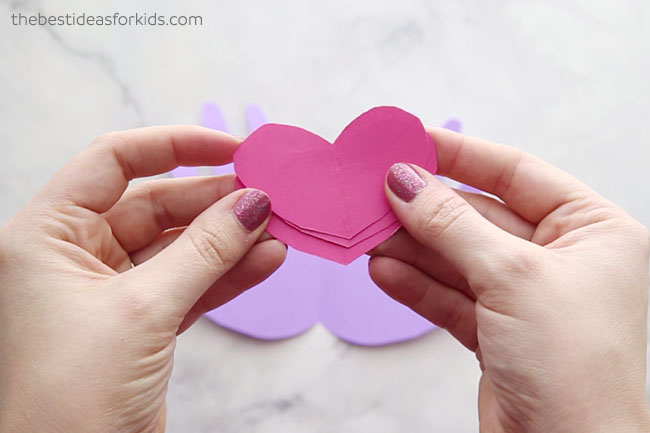 Cut out hearts for Valentines