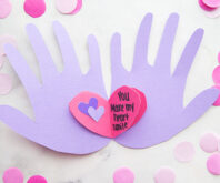 Handprint Valentine Card Cover