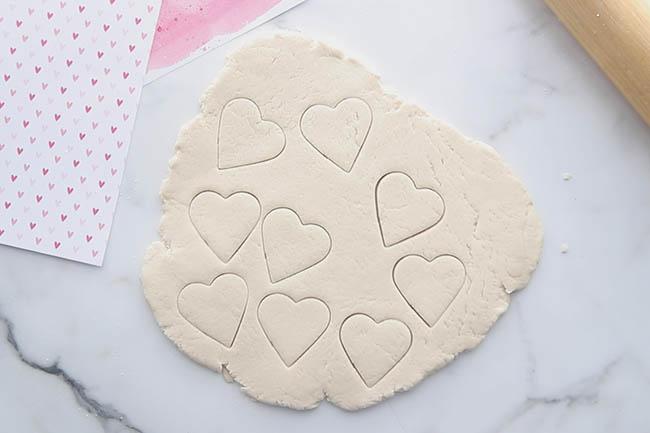 Salt Dough Hearts Roll out Dough
