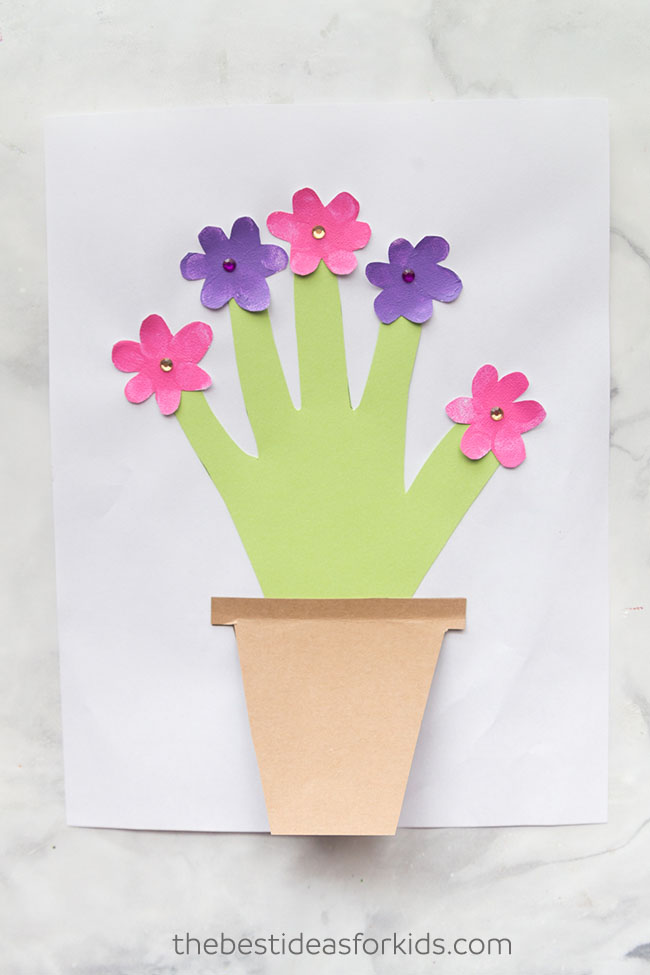 Mother's Day Handprint Flower