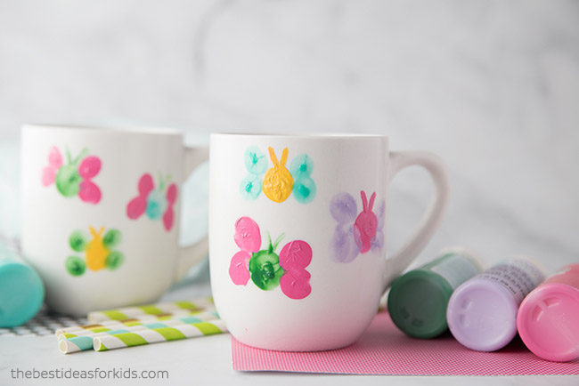 Fingerprint Butterfly DIY Mugs