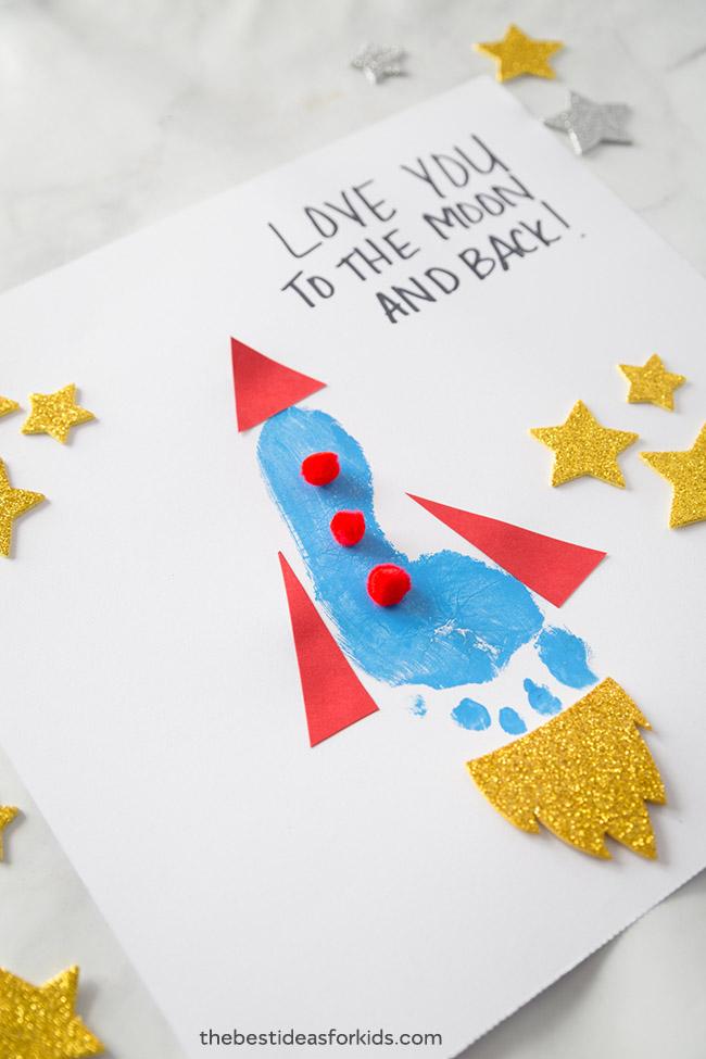 Footprint Art Rocket
