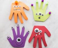 Monster Handprint Cards