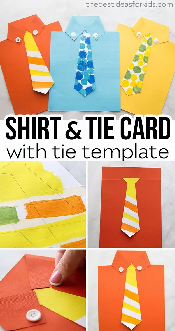 Shirt Card With Free Tie Template