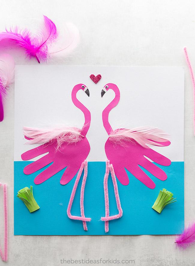 Flamingo Handprint