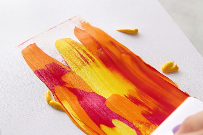 Leaf Scrape Painting