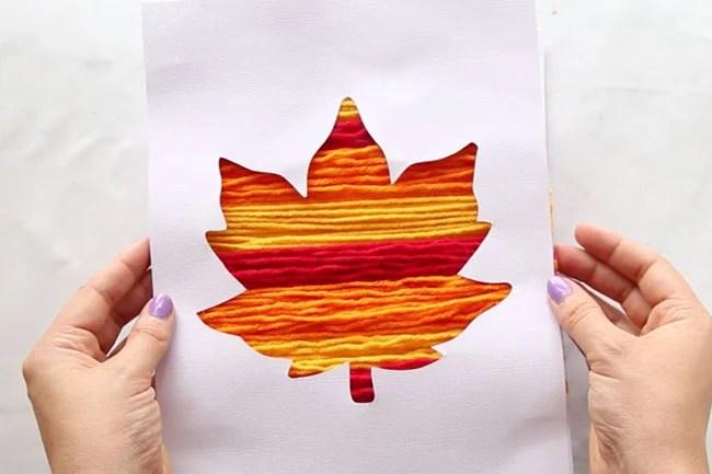 Yarn Art Silhouette Craft