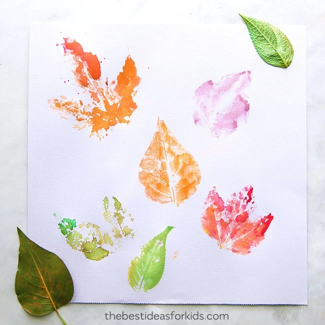 Leaf Printing With Watercolors