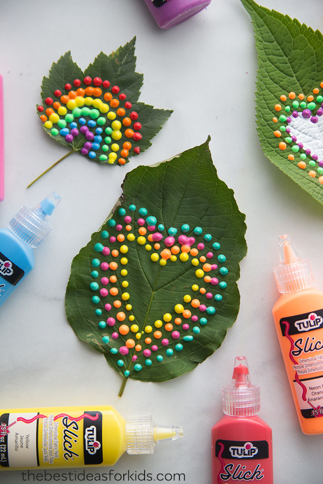 Puffy Painted Leaves