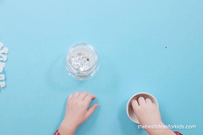 Add Glitter and Confetti to Snow Globe