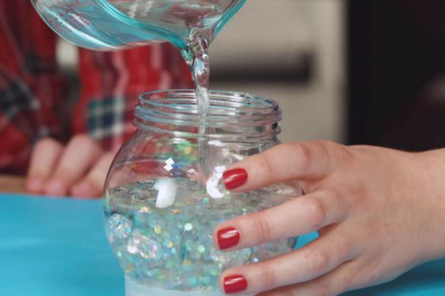 Add Water to Snow Globe