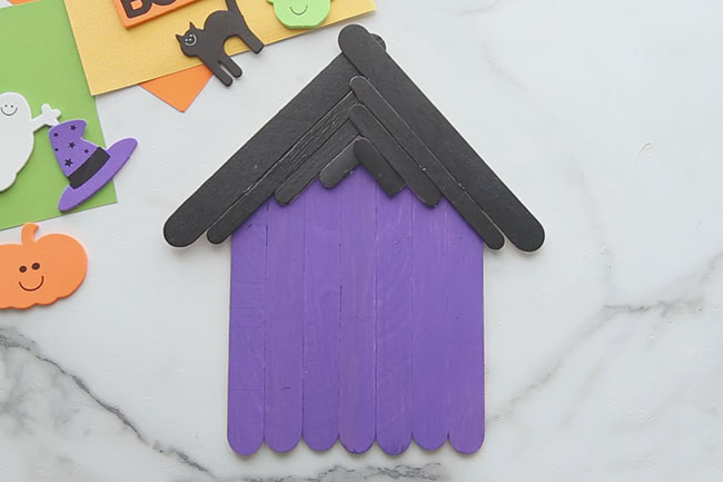 Glue Popsicle Stick Haunted House Together